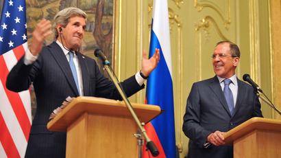 John Kerry et Serguei Lavrov, hier à Moscou