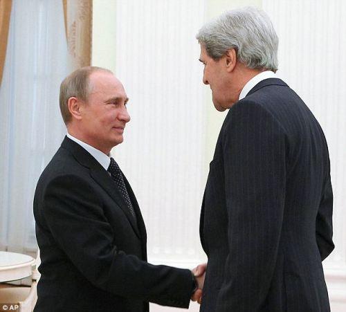 Vladimir Poutine et John Kerry