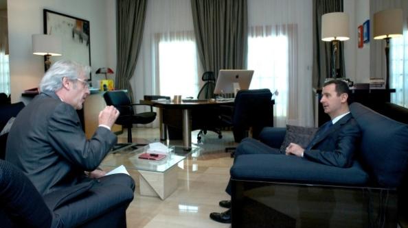 Rainer Hermann et Bachar al-Assad