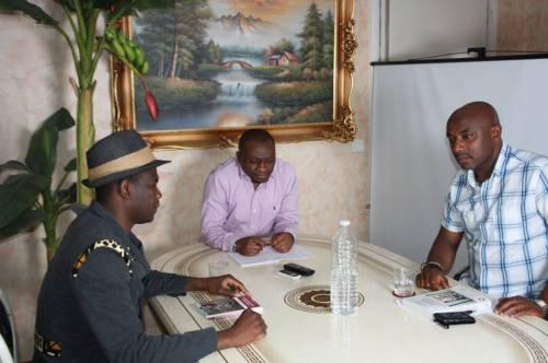 De gauche à droite, Alain-Alfred Moutapam, Allain Jules et Dr. Thomas Calvin Djombé