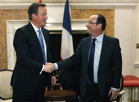 David Cameron et Francois Hollande