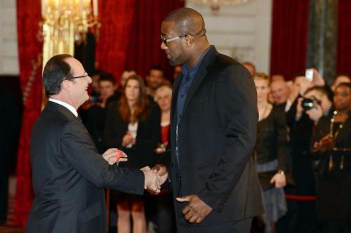 François Hollande et Teddy Riner