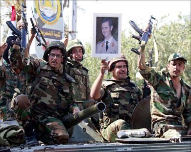 Soldats syriens à Qusseir
