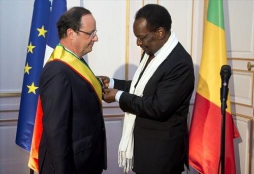 Dioncounda Traore et  Francois Hollande