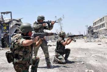 Soldats syriens à Homs