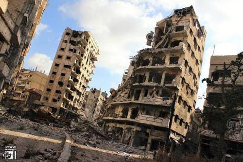 Homs, hier, une ville morte