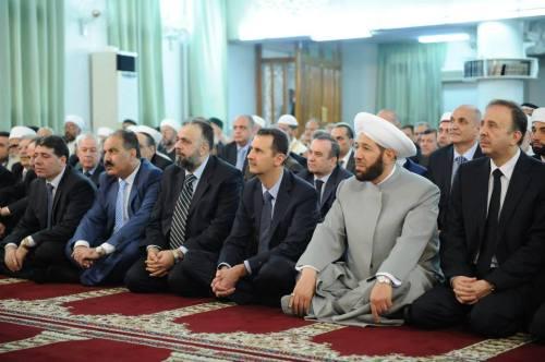 Assad ce matin dans la mosquée de Anas ben Malek pour la prière de l'Aïd al Fitr, (MERCI A TOM)