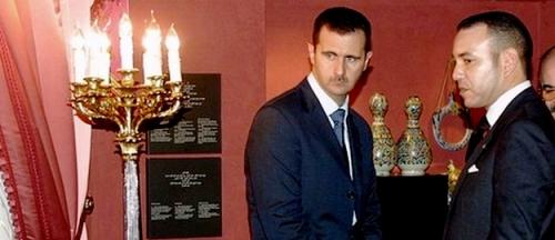 Bachar al-Assad et Mohamed VI