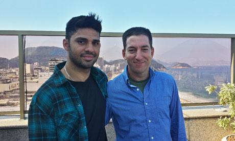 David Miranda et Glenn Greenwald