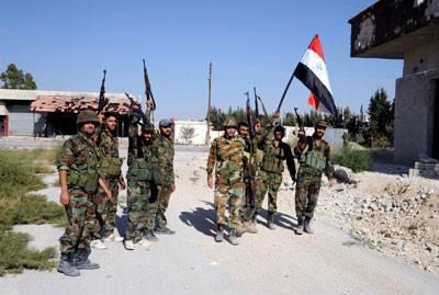Soldats syriens (Ghouta orientale entièrement sécurisée aujourd'hui)