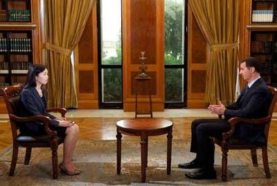 La journaliste de CCTV et le président Al-Assad