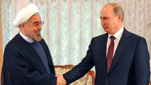 Hassan Rohani & Vladimir Poutine