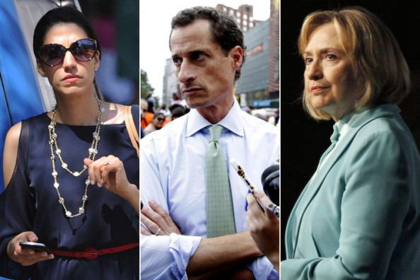 Huma Abedin, Anthony Weiner et Hillary Clinton