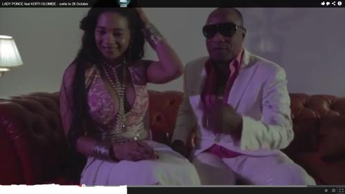 Lady Ponce & Koffi Olomidé/Capture d'écran Youtube