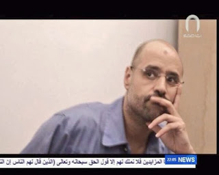 Saïf al-Islam, hier, à la télévision