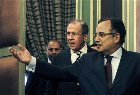Serguei Lavrov & Nabil Fahmy