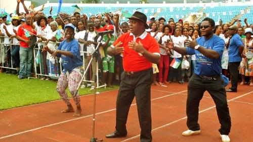 Maélé Ndoñg, lors de l'une de ses dernières prestations à Malabo