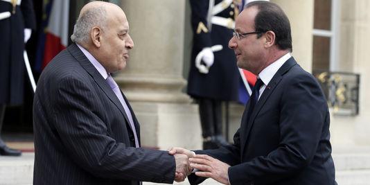 Monzer Makhous et Francois Hollande