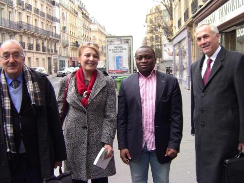 Dr.  député, Dr Fadia Dib,député, Allain Jules et Pierre Boutros Merjaneh, député