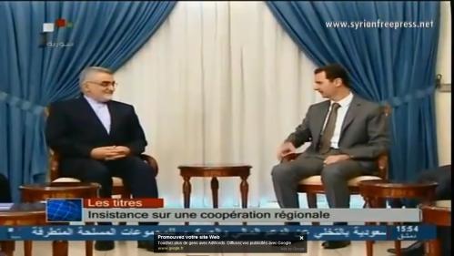 Bachar al-Assad et Alaeddine Boroujerdi