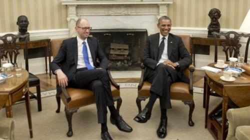 Arseni Iatseniouk et Barack Obama