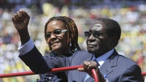 Grace et Robert Mugabé