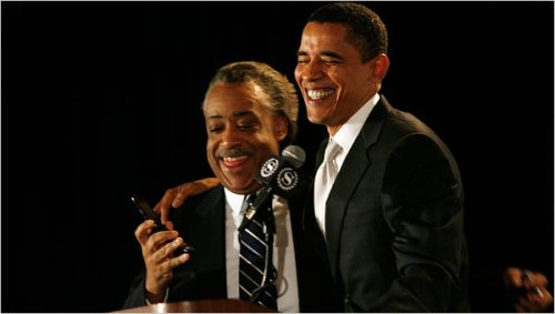 Al Sharpton et Barack Obama