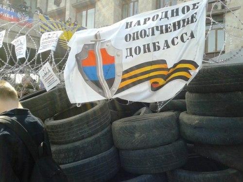 Barricades en prévision de l'assaut de la police