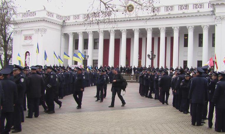 Hôtel de ville d'Odessa, le 4/04/2014/ Crédits photo/ Alexandre Sivov