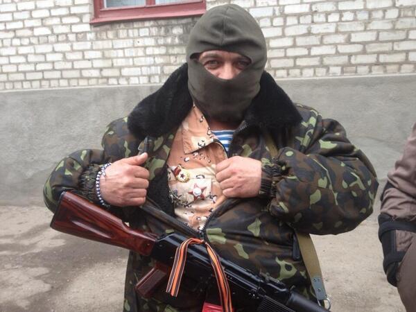 Milicien pro-russe de Sloviansk