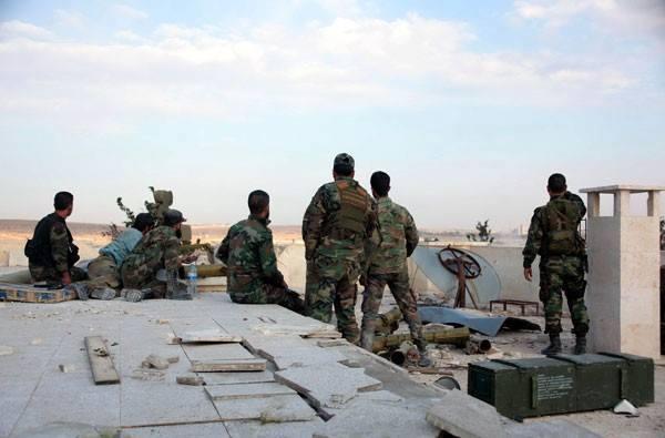 Armée arabe syrienne à Alep, hier