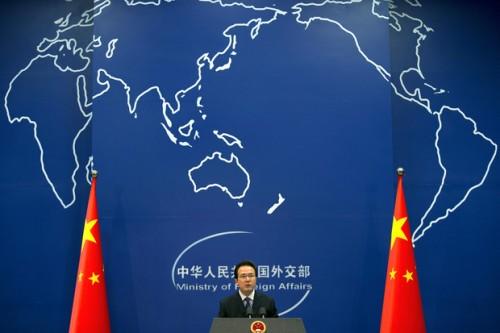 Hong Lei, porte parole du ministère chinois des Affairers étrangères