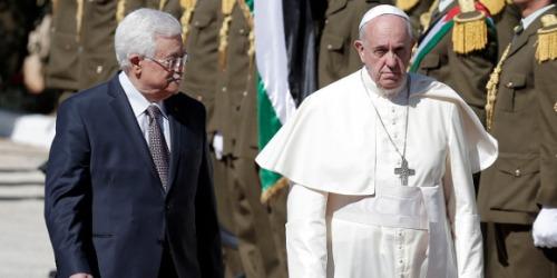 Mahmoud Abbas et le pape François