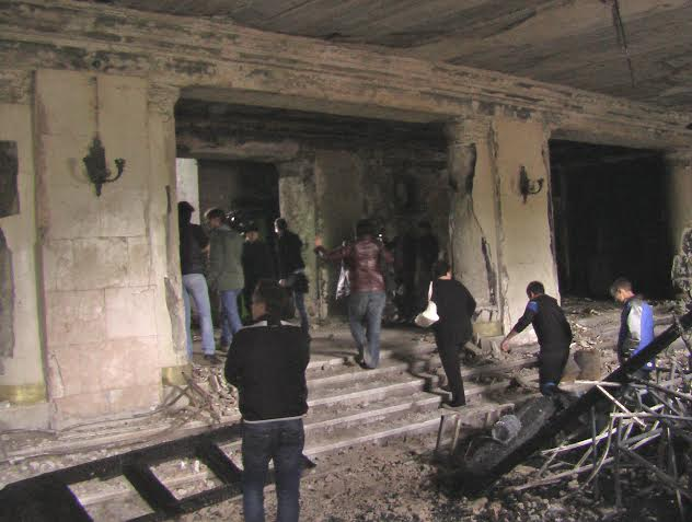 Intérieur brûlé de la Maison des syndicats / Crédits photo / Alexandre Sivov