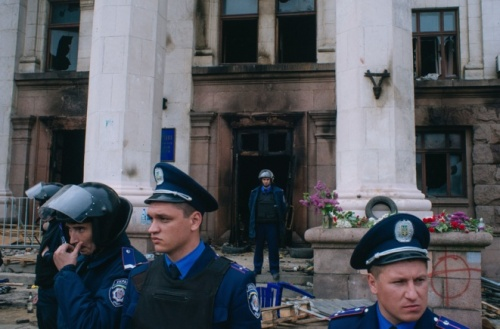 Maison des syndicats, après l'incendie criminel/Archives/ Crédits photo/ Alexandre Sivov