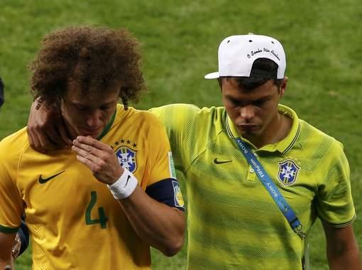 davis Luiz et Thiago Silva