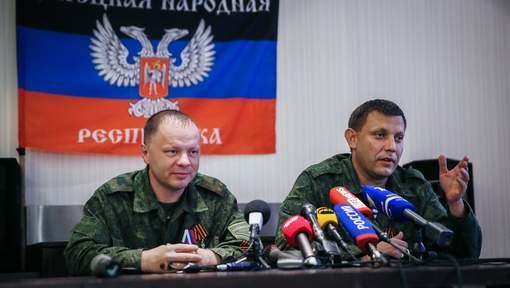 Alexandre Zakhartchenko (à droite), Premier ministre de Donetsk