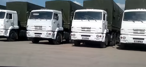 Camions du convoi humanitaire russe