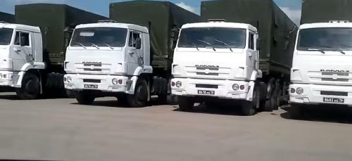 Camions du convoi humanitaire russe