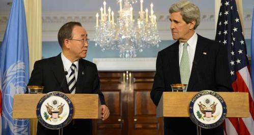 Ban Ki-moon et John Kerry