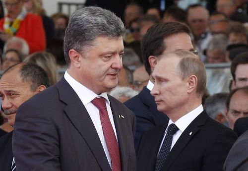 Petro Porochenko et Vladimir Poutine