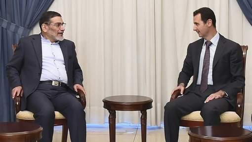 Ali Shamkhani et Bachar al-Assad