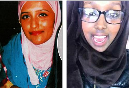 Aqsa Mahmood et une des soeurs jumelles