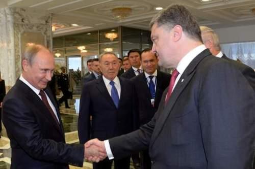 Poutine et Porochenko