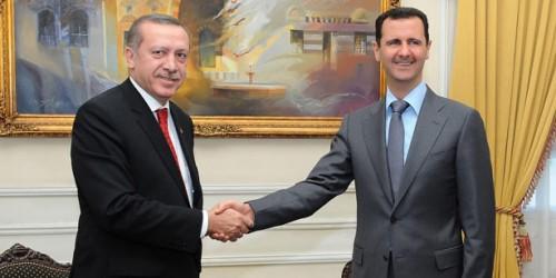 les présidents turc et syrien, Recep Tayyip Erdoğan et Bachar al-Assad