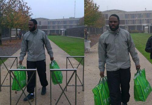 Kemi Seba à sa sortie de l'embastillement de Fleury Merogis