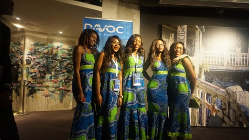 Les hôtesses du Davoc 2014