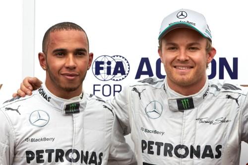 Hamilton et Rosberg