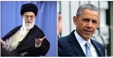 L'ayatollah Ali Khamenei et Barack Obama