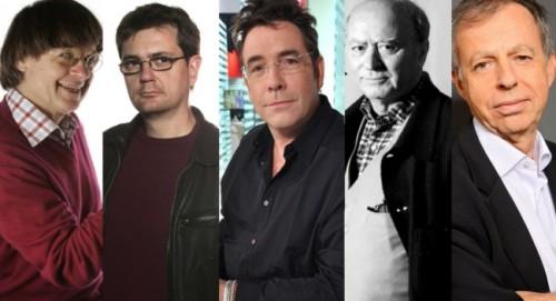 Cabu, Charb, Tignous, Wolinski et Bernard Maris